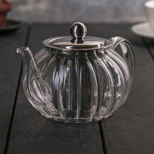 Чайник заварочный «Диана», 600 мл, 18?12?9,5 см, с металлическим ситом