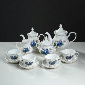 """Сервиз чайный """"Незабудка"""", 12 предметов, 4 персоны"""