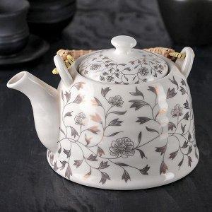 Чайник заварочный «Золотая пора», 900 мл, с металлическим ситом