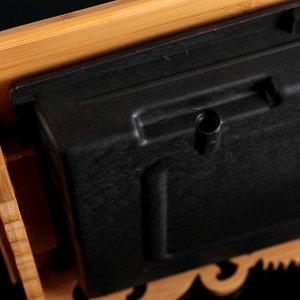 Стол для чайной церемонии с подносом «Бамбуковая роскошь», 45?30?7 см