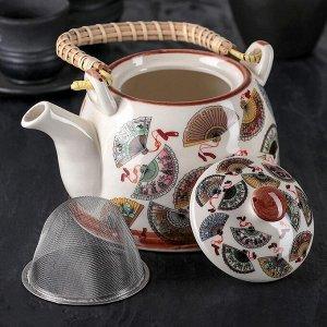 Чайник заварочный «Веера», 900 мл, с металлическим ситом