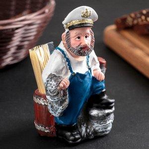 Подставка под зубочистки и салфетки «Морячок», в комплекте с зубочистками, МИКС