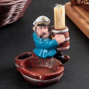 Подставка под зубочистки и пепельница «Морячок», в комплекте с зубочистками