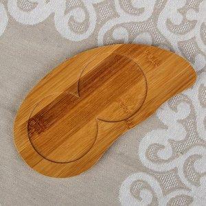 Набор для соусов и масел «Эстет», 2 шт, 230 мл, 20?10?21 см, на деревянной подставке