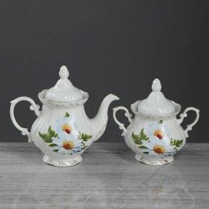 Чайный набор 2 предмета: чайник 0.62 л и сахарница 0.5 л, микс