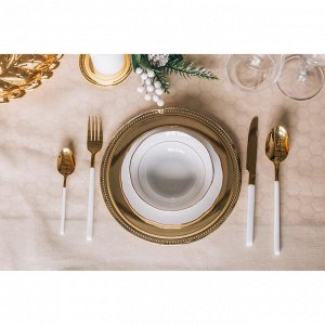 Набор столовых приборов Magistro «Версаль», 4 предмета, цвет белый