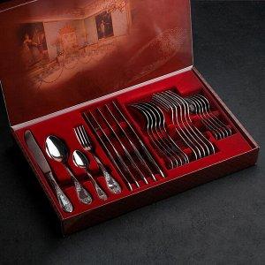 Набор столовых приборов «Императорский», 24 предмета, декоративная коробка