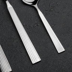Набор столовых приборов «Ариета», 24 предмета, толщина приборов 2,5 мм, декоративная коробка