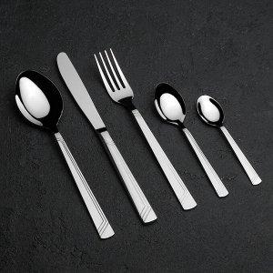 Набор столовых приборов «Аппетит», 30 предметов, толщина 2 мм, декоративная коробка