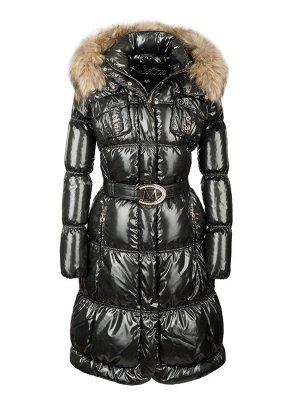 Пух. пальто Milana енот натур. (черный) Черный