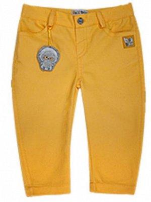 """Брюки джинсовые """"Бананы"""" желтые"""