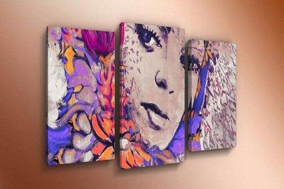 ♥ Картины и Часы - 63 ♥ Новинки!  — Модульные картины-Девушки — Картины
