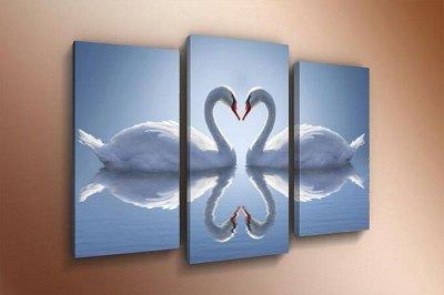 ♥ Картины и Часы - 63 ♥ Новинки!  — Модульные картины-Лебеди — Картины