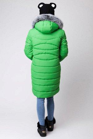 Зимнее пальто зелёное