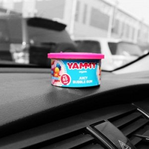 "Ароматизатор с растит. наполнителем ""Yammy"", Органик, баночка ""Bubble gum"" 42 гр."