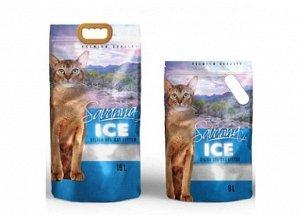 SAVANNA ICE 16л цветные гранулы наполнитель д/кош впитывающий 6,4кг (1/2)