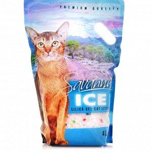 SAVANNA ICE 8л цветные гранулы наполнитель д/кош впитывающий 3,2кг (1/4)