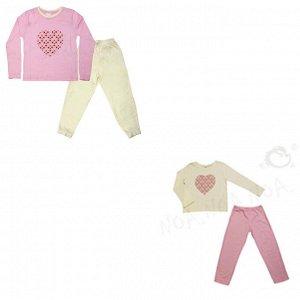 Пижама для девочек арт 10392-1
