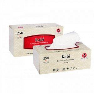 """Салфетки бумажные """"Maneki"""" Kabi 2 слоя, белые, 250 шт./коробка"""
