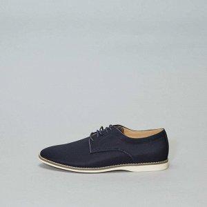 Туфли-дерби из текстиля - синий