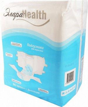 Подгузники для взрослых ЭлараHEALTH, размер M, 30шт