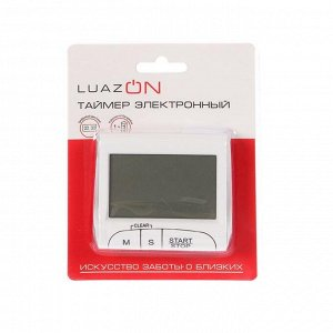 Таймер LuazON LTB-02. электронный. белый
