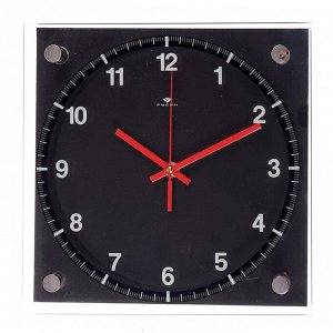 """Часы настенные. серия: Классика. """"Чёрная классика"""". 25х25 см"""