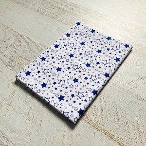 Простынь полуторная Белая, синий звездопад