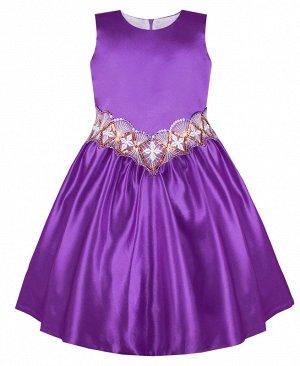 Нарядное сиреневое платье для девочки 82744-ДН19