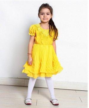 Желтое нарядное платье для девочки 2820-ПСДН16
