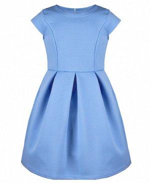 Голубое платье для девочки 783411-ДЛН19
