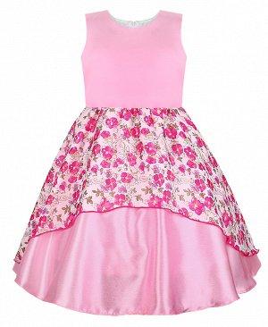 Нарядное розовое платье для девочки 806910-ДН18