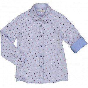 Рубашка Рубашка из оксфорда с морским принтом. Застежка на пуговицах спереди.Состав основного материала изделия RU: 100% Хлопок; Состав основного материала изделия ENG: 100%CO; Название цвета основног