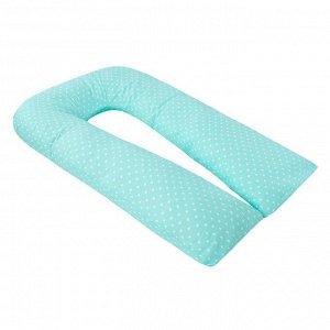 Подушка для беременных U-образная, размер 35 ? 340 см, сердечки мята