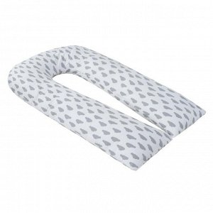Подушка для беременных U-образная, размер 35 ? 340 см, облака серые