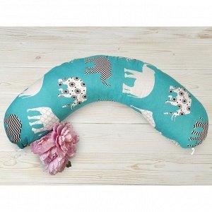 Подушка для беременных, размер 25 ? 170 см, принт слоники