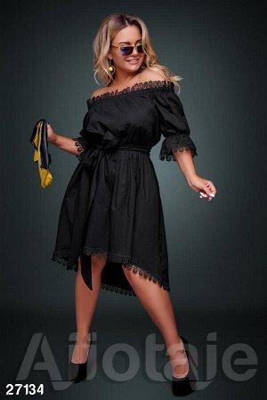 """Черное платье с вырезом """"Анжелика"""""""