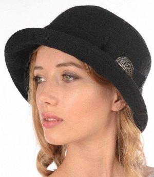 Шляпа, тёмно-зелёного цвета, 100% шерсть