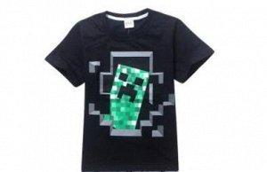 Костюм с футболкой и шортами в клетку черный