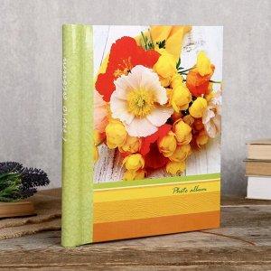 """Фотоальбом Fotografia магнитный, 10 листов, 23х28 см, """"Цветы"""""""