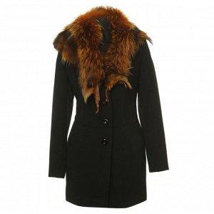 Пальто женское с енотом, IDEAL (Россия)