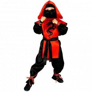 Карнавальный костюм «Ниндзя: Чёрный дракон», рубашка, брюки, защита, пояс, маска, р. 42, рост 158 см