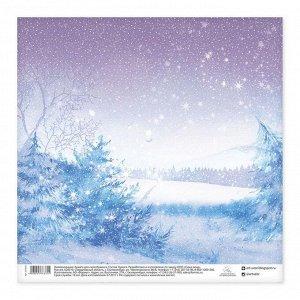 Бумага для скрапбукинга «Снежная сказка», 30,5 ? 30,5 см