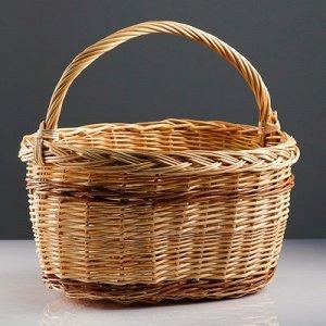 Корзина «Калина», 45?30?24/42 см, ручное плетение, ива