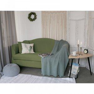 Чехол для мягкой мебели ,2-х местный диван,наволочка 40*40 см в ПОДАРОК,оливковый 248098