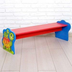 Скамейка детская «Черепаха», цвет красный и синий