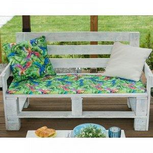 Подушка на 2-местную скамейку  «Попугай», 45 ? 120 см, репс с пропиткой ВМГО, 100%-ный хлопок