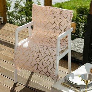 Подушка на уличное кресло  «Сетка», 50 ? 100 см + 2 см, репс с пропиткой ВМГО, 100%-ный хлопок
