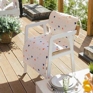 Подушка на уличное кресло Треугольники, 50?100+2 см, репс с пропиткой ВМГО, 100% хлопок
