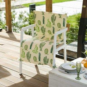 Подушка на уличное кресло Кактусы, 50?100+2 см, репс с пропиткой ВМГО, 100% хлопок